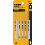 DeWalt DW3774-5 Metal Cutting Jig Saw Blade Pack Of 5