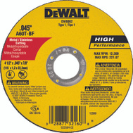 DeWalt DW8062 4-1/2 By 0.45 By 7/8 Inch Metal Cutting Wheel