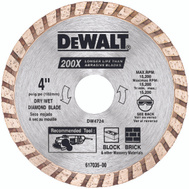 DeWalt DW4724 4 Inch High Performance Masonry Blade
