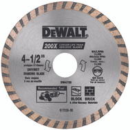 DeWalt DW4725 Turbo 4-1/2 High Perf Masonry Blade