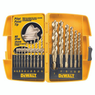 DeWalt DW1956 16 Piece Pilot Point Drill Bit Set