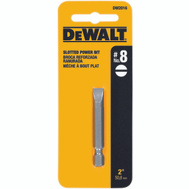 DeWalt DW2016 # 8 Slotted 2 Inch Power Bit