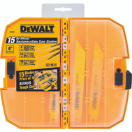 DeWalt DW4890 15 Piece Reciprocating Saw Blade Set
