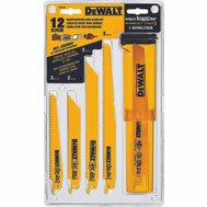 DeWalt DW4892 12 Piece Reciprocating Blade Set With Flip-Top
