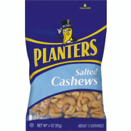 Kraft 422465 Planters Salted Cashews Planters 3 Ounce