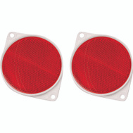 Hy Ko CDRF-3R 3-1/4 Inch Red Bracketed Nail On Reflectors (Pack Of 2)