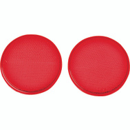 Hy Ko CDRF-4R 3-1/4 Inch Self Adhesive Press On Red Reflectors (Pack Of 2)