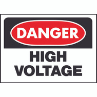 Hy Ko 508 10 Inch By 14 Inch Danger High Voltage Sign