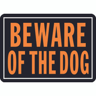 Hy Ko 838 Hy Glo 10 Inch By 14 Inch Aluminum Beware Of The Dog Sign