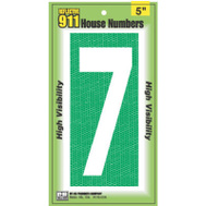 Hy Ko 927 5 Inch Reflective High Visibility House Number 7