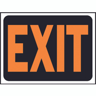 Hy Ko 3003 Hy Glo 9 Inch By 12 Inch Plastic Orange Black Exit Sign