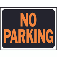 Hy Ko 3012 Hy Glo 9 Inch By 12 Inch Plastic No Parking Sign