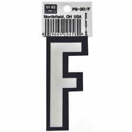 Hy Ko PS-20/F PS 20 Series 3-1/4 Inch Bend And Peel Reflective Vinyl House Letter F