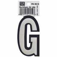 Hy Ko PS-20/G PS 20 Series 3-1/4 Inch Bend And Peel Reflective Vinyl House Letter G