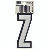 Hy Ko PS-20/Z PS 20 Series 3-1/4 Inch Bend And Peel Reflective Vinyl House Letter Z