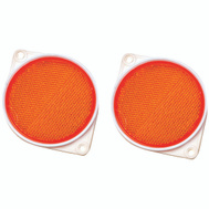 Hy Ko CDRF-3A 3-1/4 Inch Amber Bracketed Nail On Reflectors (Pack Of 2)