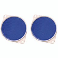 Hy Ko CDRF-3B 3-1/4 Inch Blue Bracketed Nail On Reflectors (Pack Of 2)