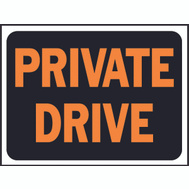 Hy Ko 3028 Hy Glo 9 Inch By 12 Inch Plastic Private Drive Sign