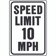 Hy Ko HW-10 HW Series 12 Inch By 18 Inch Heavy Duty Aluminum Highway Sign Speed Limit 10 Mph