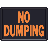 Hy Ko 833 Hy Glo 10 Inch By 14 Inch Aluminum No Dumping Sign
