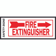 Hy Ko FE-2R 4 Inch By 10 Inch Glow In The Dark Fire Extinguisher Sign With Right Arrow