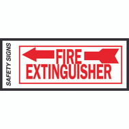 Hy Ko FE-2L 4 Inch By 10 Inch Glow In The Dark Fire Extinguisher Sign With Left Arrow