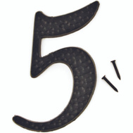 Hy Ko Dc 3 5 Inch Black Hammered Aluminum House Number