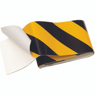 Hy Ko TAPE-1 2 Inch By 24 Inch Reflective Safety Tape Black And Yellow
