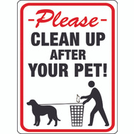 Hy Ko 20617 9 Inch By 12 Inch Clean Up After Your Pet Sign