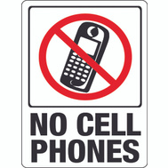Hy Ko 20618 9 Inch By 12 Inch No Cell Phones Sign