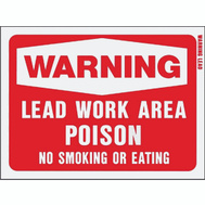 Hy Ko 20647 9 Inch By 12 Inch Warning Lead Work Area Sign