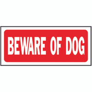 Hy Ko 23001 6 Inch By 14 Inch Heavy Plastic Sign Beware Of Dog