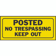 Hy Ko 23004 6 Inch By 14 Inch Heavy Plastic Sign Posted No Trespassing Keep Out