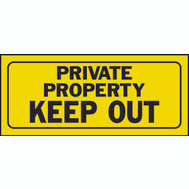 Hy Ko 23006 6 Inch By 14 Inch Heavy Plastic Sign Private Property Keep Out
