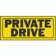 Hy Ko 23007 6 Inch By 14 Inch Heavy Plastic Sign Private Drive