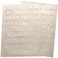 Hy Ko 30013 1 Inch White Self Stick Adhesive Vinyl Number And Letter Set