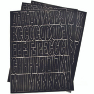 Hy Ko 30034 2 Inch Black Self Stick Adhesive Vinyl Number And Letter Set