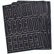 Hy Ko 30035 3 Inch Black Self Stick Adhesive Vinyl Number And Letter Set