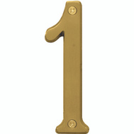 Hy Ko BR-43BB/1 Prestige Series 4 Inch Prestige Brushed Brass House Number 1