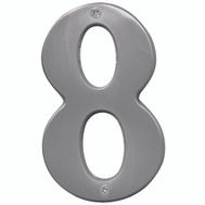 Hy Ko BR-51SN/8 Prestige Series 5 Inch Prestige Satin Nickel House Number 8