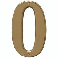 Hy Ko BR-51PB/0 Prestige Series 5 Inch Prestige Polished Brass House Number 0