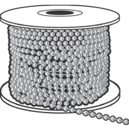 Hy Ko KBC201 Nickel Plated Beaded Chain #1 100 Foot