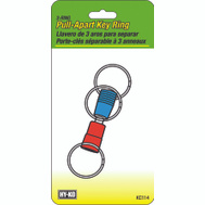 Hy Ko KC114 3 Way Pull Apart Key Ring