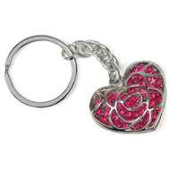 Hy Ko KH706 Keychain Heart Cut Out Pink