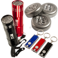 Trans USA PCC-8-1 PCC 8 Piece Led Flashlight And Tap Light Set