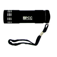 Trans USA PCC36347BK Polybag PCC Black 9 Led Aluminum Flashlight