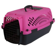 Petmate 21088 Pet Taxi Pet Porter Medium Black/Dark Pink