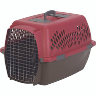 Petmate 21090 Pet Taxi Large Kennel, Samba Red/Coffee Grounds