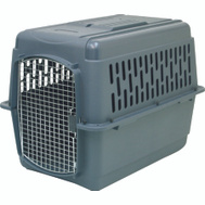Petmate 21182 Pet Porter Heavy Duty Pet Carrier, Dark Gray