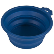 Petmate 23369 Travel Pet Bowl 3 Cup Blue